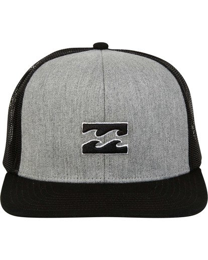 1 All Day Trucker Hat Grey MAHWTBAR Billabong
