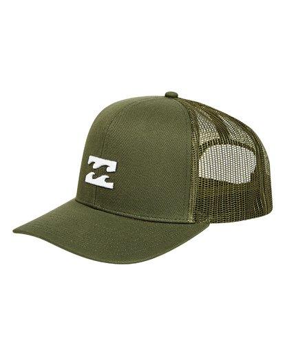 0 All Day Trucker Hat Green MAHWTBAR Billabong
