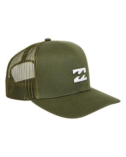 2 All Day Trucker Hat Green MAHWTBAR Billabong