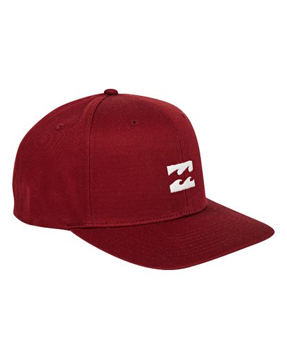 2 All Day Snapback Hat Red MAHWTBAS Billabong