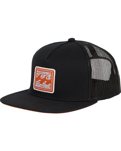 0 Flatwall Trucker Hat Black MAHWTBFW Billabong