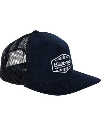 2 Flatwall Trucker Hat Blue MAHWTBFW Billabong