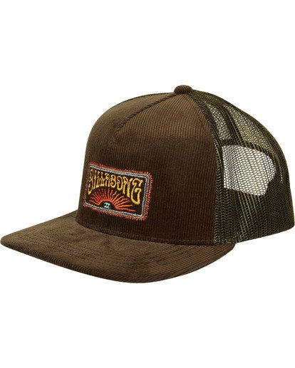 0 Flatwall Trucker Hat Green MAHWTBFW Billabong
