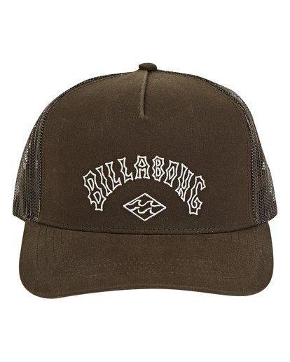 1 Flatwall Trucker Hat Brown MAHWTBFW Billabong