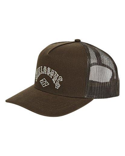 0 Flatwall Trucker Hat Brown MAHWTBFW Billabong
