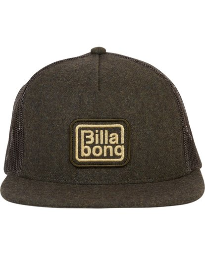 1 Flatwall Trucker Hat Green MAHWTBFW Billabong