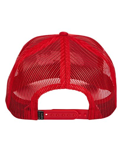 3 Flatwall Trucker Hat Red MAHWTBFW Billabong