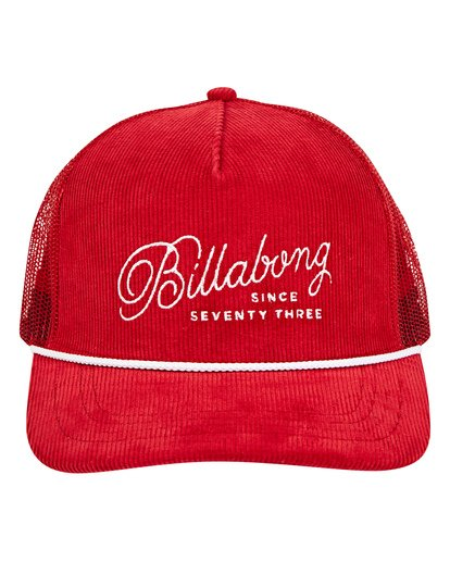 1 Flatwall Trucker Hat Red MAHWTBFW Billabong