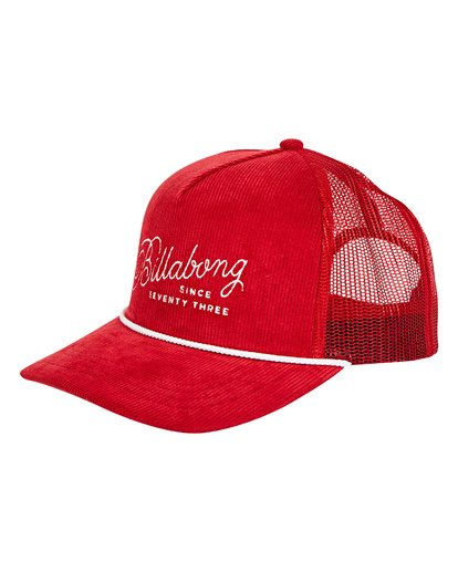 0 Flatwall Trucker Hat Red MAHWTBFW Billabong