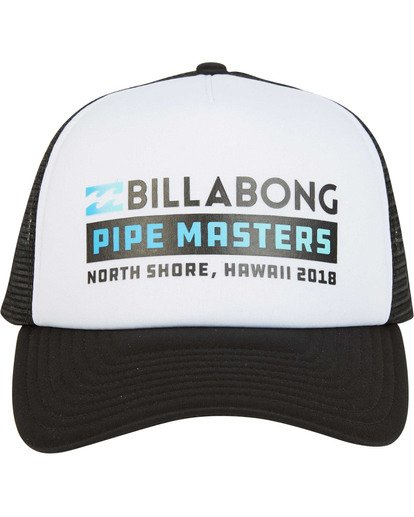 1 Pipe Masters Trucker Hat Black MAHWTBPM Billabong