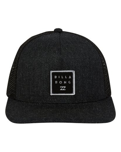 1 Stacked Trucker Hat Black MAHWTBST Billabong