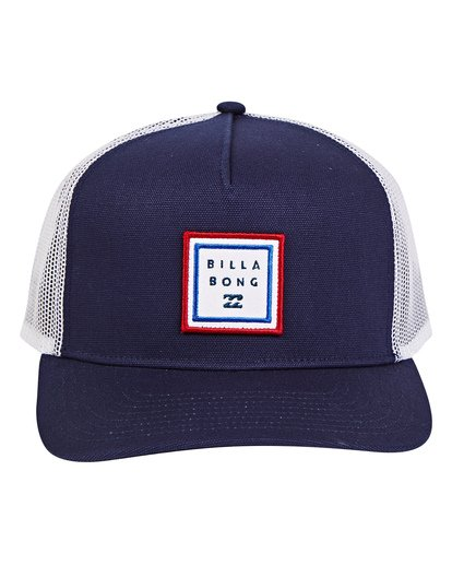 1 Stacked Trucker Hat Blue MAHWTBST Billabong