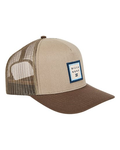 2 Stacked Trucker Hat Grey MAHWTBST Billabong