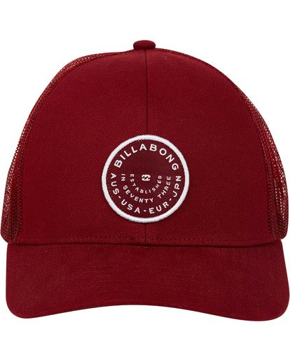 1 Walled Trucker Hat Red MAHWTBWA Billabong
