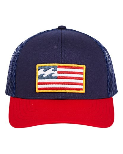 1 Merica Trucker Hat Blue MAHWUBME Billabong