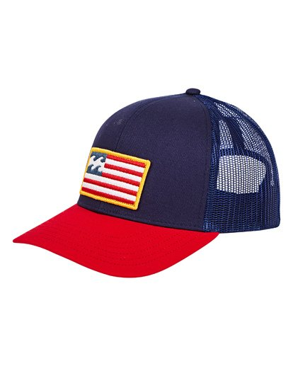 0 Merica Trucker Hat Blue MAHWUBME Billabong