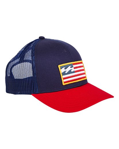 2 Merica Trucker Hat Blue MAHWUBME Billabong