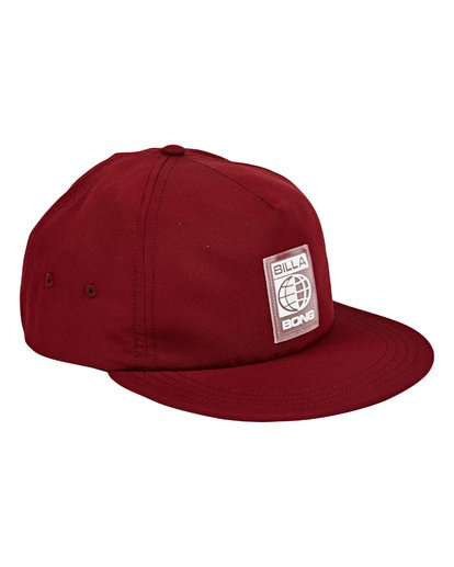 2 Slappy Hat Red MAHWUBSL Billabong