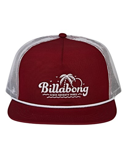 3 Alliance Trucker Hat Red MAHWVBAL Billabong