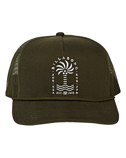 1 Flatwall Trucker Hat Green MAHWVBFW Billabong
