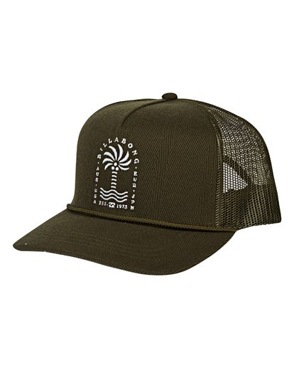0 Flatwall Trucker Hat Green MAHWVBFW Billabong