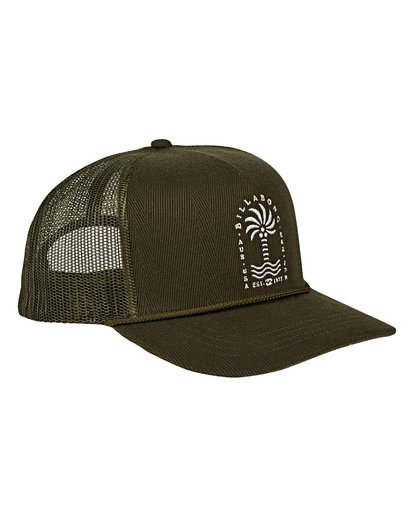2 Flatwall Trucker Hat Green MAHWVBFW Billabong