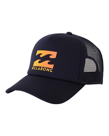 0 Podium Trucker Hat Blue MAHWVBPO Billabong