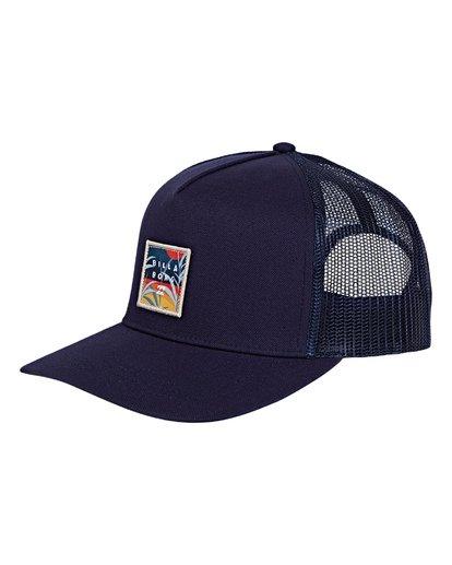 0 Stacked Trucker Hat Blue MAHWVBST Billabong