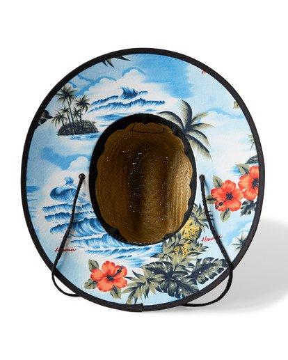 1 Tides Hawaii Print Straw Lifeguard Hat Blue MAHWVBTH Billabong