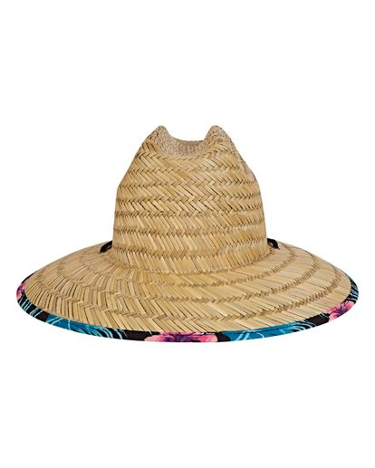 3 Tides Print Lifeguard Straw Hat Black MAHWVBTP Billabong