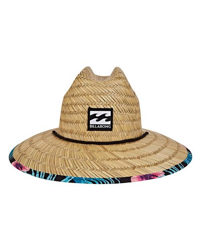 1 Tides Print Lifeguard Straw Hat Black MAHWVBTP Billabong