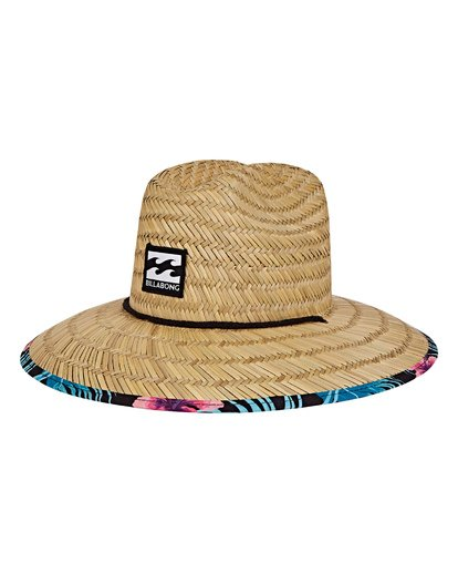 0 Tides Print Lifeguard Straw Hat Black MAHWVBTP Billabong