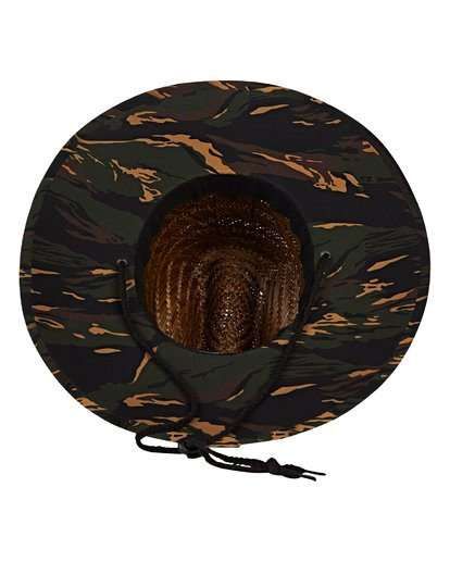 4 Tides Print Lifeguard Straw Hat Black MAHWVBTP Billabong