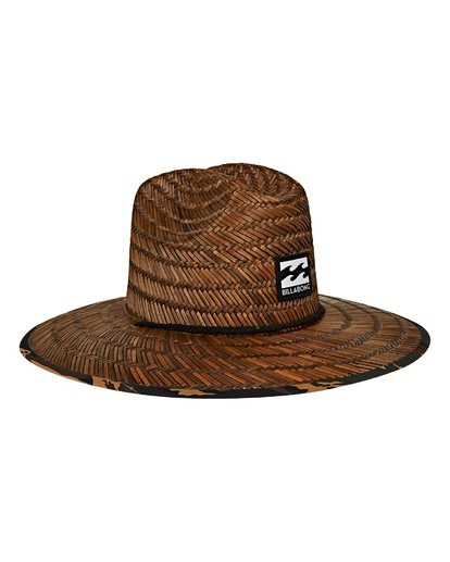 2 Tides Print Lifeguard Straw Hat  MAHWVBTP Billabong
