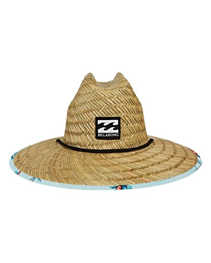 1 Tides Print Lifeguard Straw Hat Blue MAHWVBTP Billabong