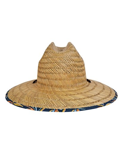 3 Tides Print Lifeguard Straw Hat Blue MAHWVBTP Billabong