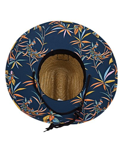 4 Tides Print Lifeguard Straw Hat Blue MAHWVBTP Billabong