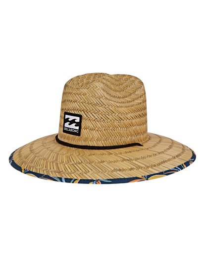 0 Tides Print Lifeguard Straw Hat Blue MAHWVBTP Billabong