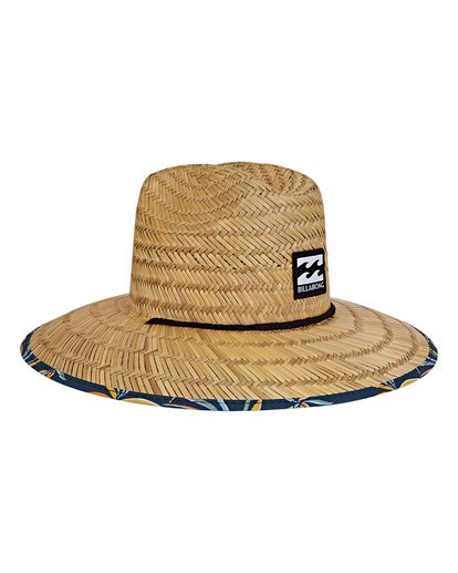 2 Tides Print Lifeguard Straw Hat Blue MAHWVBTP Billabong