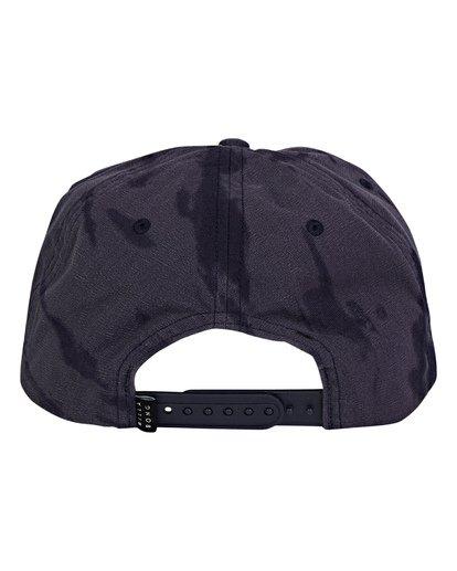3 Lock Down Snapback Hat Blue MAHWWBLO Billabong