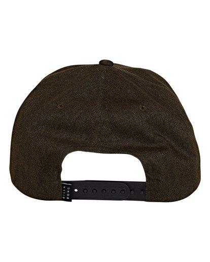 3 Stacked Up Snapback Hat Green MAHWWBSU Billabong