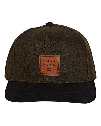 1 Stacked Up Snapback Hat Green MAHWWBSU Billabong