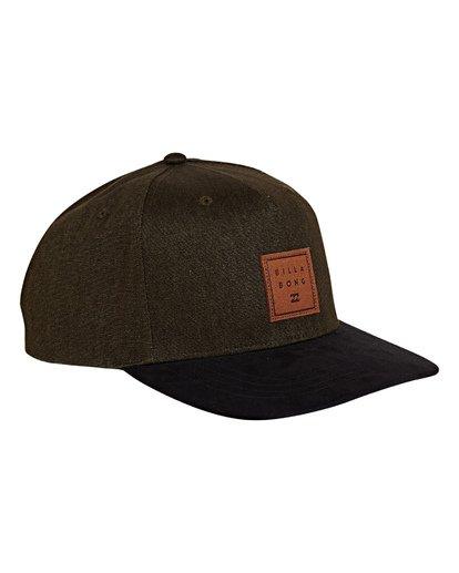 2 Stacked Up Snapback Hat Green MAHWWBSU Billabong