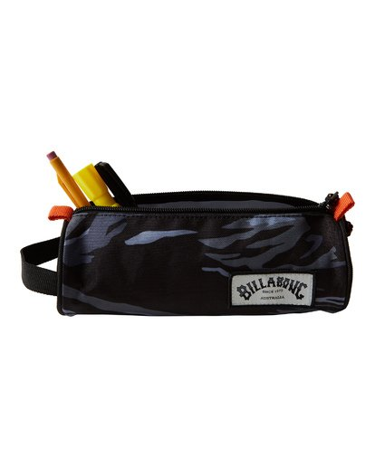 3 Barrel Pencil Case Black MAMCVBBA Billabong