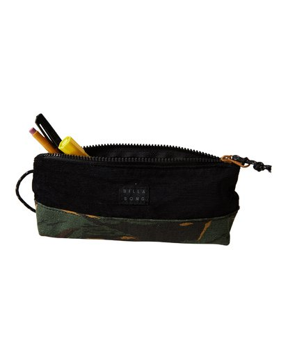 3 Low Tide Pencil Case Camo MAMCVBLT Billabong