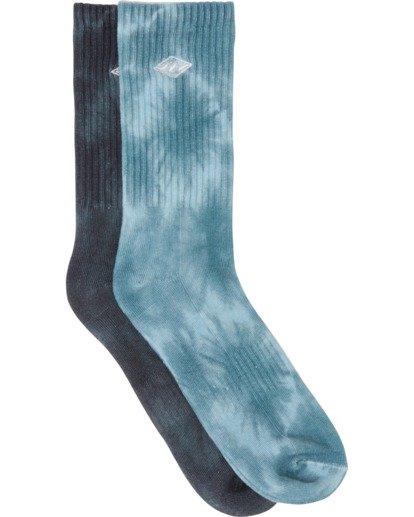 0 Tie Dye Crew Socks White MASO1BTD Billabong
