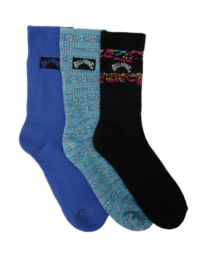 1 Instinct Socks 3 Pack White MASO2BIE Billabong