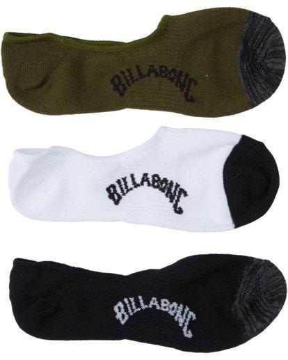 1 Mixed Bag Invisible Socks White MASO3BMI Billabong