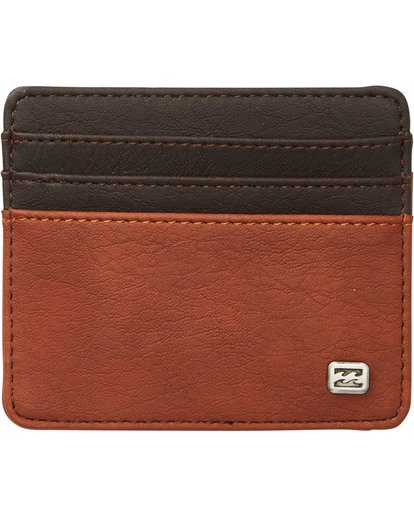 0 Dimension Card Holder Wallet Brown MAWTNBDC Billabong