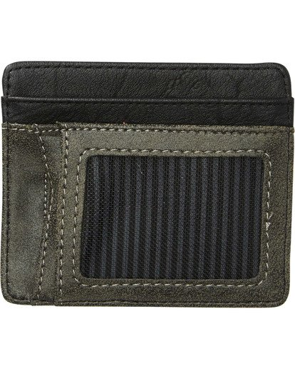 1 Dimension Card Holder Wallet Grey MAWTNBDC Billabong